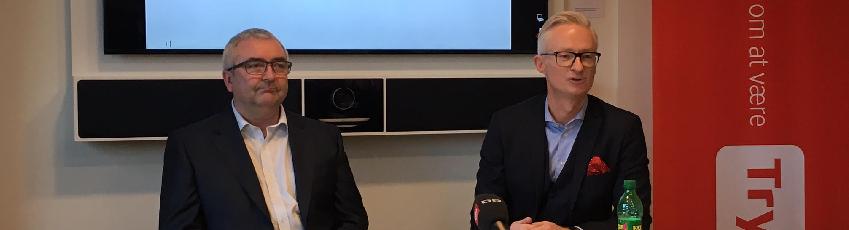 Der var en vis forbrødring mellem de to ærkerivaler Tryg-topchef Morten Hübbe og Alka-direktør Henrik Grønborg, da fusionen mellem de to blev meldt ud i december.