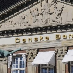 Copenhagen_Denmark _18 April 2017_  Danske bank head ofice building .  (Photo. Francis Dean/Deanpictures.)